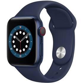 Chytré hodinky Apple Watch Series 6 GPS + Cellular, 44mm pouzdro z modrého hliníku - námořnicky tmavomodrý sportovní náramek (M09A3HC/A)