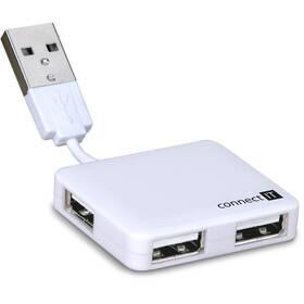 USB Hub Connect IT USB 2.0 / 4x USB 2.0 (CI-52) bílý