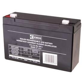 Olověný akumulátor EMOS bezúdržbový 6 V/12 Ah, faston 4,7 mm (B9682)