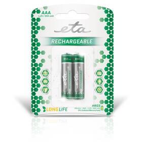 Baterie nabíjecí ETA AAA, HR03, 950mAh, Ni-MH, blistr 2ks (R03CHARGE9502)