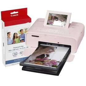 Fototiskárna Canon Selphy CP1300 + papíry KP-36 růžová