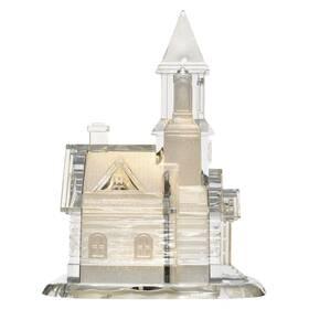 LED dekorace EMOS kostel akrylový, 21 cm, 3x AAA, vnitřní, teplá bílá (DCLW06)