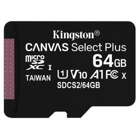 Paměťová karta Kingston Canvas Select Plus MicroSDXC 64GB UHS-I U1 (100R/10W) (SDCS2/64GBSP)
