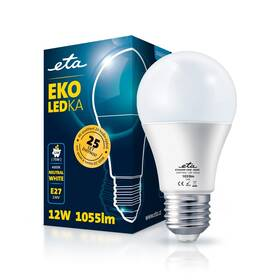 Žárovka LED ETA EKO LEDka klasik 12W, E27, neutrální bílá (A60W12NW)