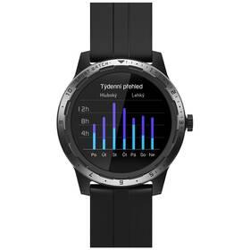 Chytré hodinky Niceboy X-fit Coach GPS - ZÁNOVNÍ - 12 měsíců záruka černý
