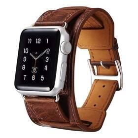 Řemínek iCarer na Apple Watch 38/40/41 mm Klasická Pravá Kůže (RIW111COFFEE) hnědý