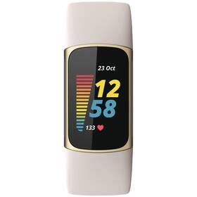 Fitness náramek Fitbit Charge 5 - Lunar White (FB421GLWT)