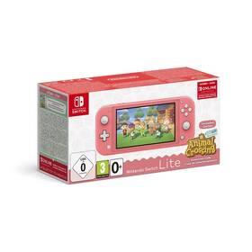 Herní konzole Nintendo Switch Lite + Animal Crossing: New Horizons + Nintendo SWITCH online předplatné na 3 měsíce (NSH125) růžová