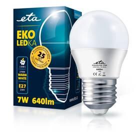 Žárovka LED ETA EKO LEDka mini globe 7W, E27, teplá bílá (G45W7WW)