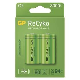 Baterie nabíjecí GP ReCyko, HR14, C, 3000mAh, NiMH, krabička 2ks (B2133)