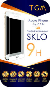 Tvrzené sklo TGM 3D na Apple iPhone 6/7/8 (TGM3DAPIP7/8WH) bílé