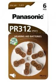 Baterie do naslouchadel Panasonic PR312, blistr 6ks (PR-312(41)/6LB)
