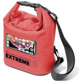 Pouzdro na mobil sportovní CellularLine Voyager Extreme, vodotěsné (VOYAGEREXPL195LR) červené