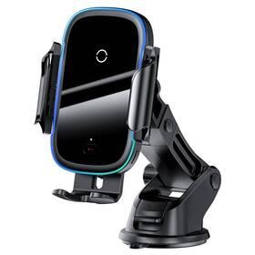 Držák na mobil Baseus Light Electric s bezdrátovým nabíjením 15W (WXHW03-01) černý