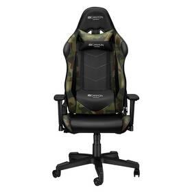 Herní židle Canyon Argama (CND-SGCH4AO) černá/zelená