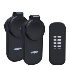 Dálkově ovládaná zásuvka Solight venkovní, 2 zásuvky, 1 ovladač (DY12)