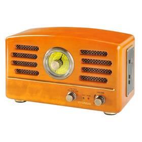 Radiopřijímač Hyundai Retro RA 302, dub dřevo