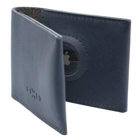 Peněženka FIXED Wallet pro AirTag z pravé hovězí kůže (FIXWAT-SMMW2-BL) modrá