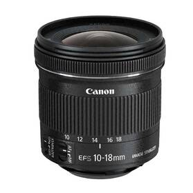 Objektiv Canon EF-S 10-18 mm f/4.5-5.6 IS STM + EW73C + LC kit (9519B009) černý