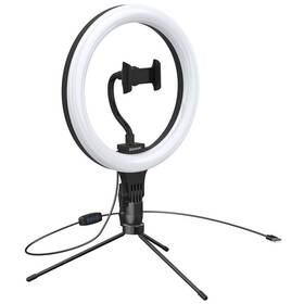 Světlo Baseus kruhové světlo pro natáčení, se stojanem (CRZB10-A01) černé