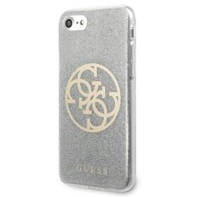 Kryt na mobil Guess Glitter 4G Circle na Apple iPhone 8/SE (2020) (GUHCI8PCUGLLG) šedý