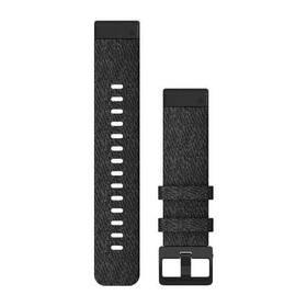 Řemínek Garmin QuickFit 20mm pro Fenix5S/6S, nylonový, černý, černá přezka (010-12875-00)