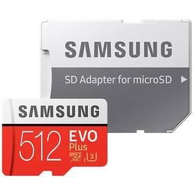 Paměťová karta Samsung Micro SDXC EVO+ 512GB Class 10 UHS-3 (R100/W90) + SD adaptér (MB-MC512HA/EU)