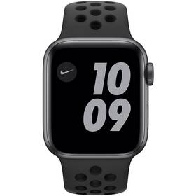 Chytré hodinky Apple Watch Nike Series 6 GPS 44mm pouzdro z vesmírně šedého hliníku - antarcitově/černý sportovní řemínek Nike - ZÁNOVNÍ - 12 měsíců záruka