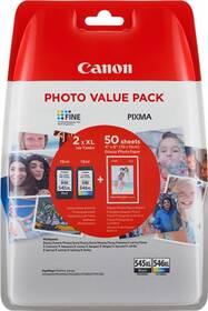 Inkoustová náplň Canon PG-545XL/CL-546XL, 400/300 stran, Photo Value Pack, CMYK, (8286B006)