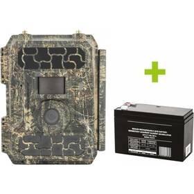 Fotopast OXE Panther 4G + externí akumulátor zelená/hnědá