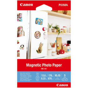 Fotopapír Canon MG-101, magnetický, 10x15 cm, 5 listů (3634C002)