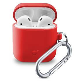 Pouzdro CellularLine Bounce pro Apple AirPods (2018/2019) (BOUNCEAIRPODSR) červené