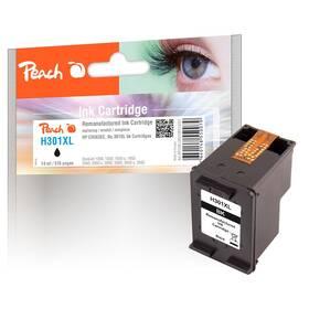 Inkoustová náplň Peach HP No. 301 XL,  kompatibilní (314231) černá