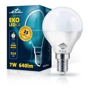 Žárovka LED ETA EKO LEDka mini globe 7W, E14, teplá bílá (P45W7WW)