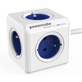 Kabel prodlužovací Powercube Extended 5x zásuvka, 1,5m bílý/modrý