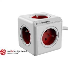 Kabel prodlužovací Powercube Extended 5x zásuvka, 1,5m bílý/červený