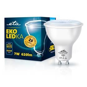 Žárovka LED ETA EKO LEDka bodová 7W, GU10, neutrální bílá (GU10W7NW)