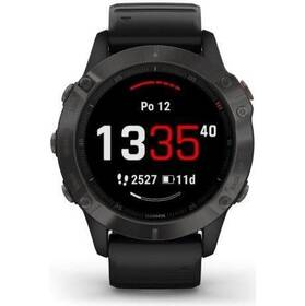 GPS hodinky Garmin fenix6 PRO Sapphire (MAP/Music) (010-02158-11) černé/šedé