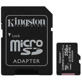 Paměťová karta Kingston Canvas Select Plus MicroSDXC 256GB UHS-I U1 (100R/85W) + adapter (SDCS2/256GB)