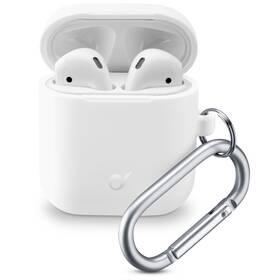 Pouzdro CellularLine Bounce pro Apple AirPods (2018/2019) (BOUNCEAIRPODSW) bílé