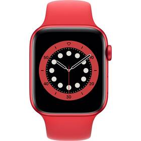 Chytré hodinky Apple Watch Series 6 GPS 44mm pouzdro z hliníku PRODUCT(RED) - PRODUCT(RED) sportovní náramek (M00M3HC/A)