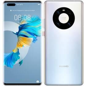 Mobilní telefon Huawei Mate 40 Pro (HMS) 5G (MT-MATE40PDSSOM) stříbrný