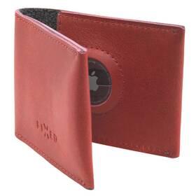 Peněženka FIXED Wallet pro AirTag z pravé hovězí kůže (FIXWAT-SMMW2-RD) červená