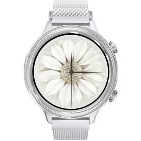 Chytré hodinky Carneo Gear+ Deluxe (8588007861203) stříbrné