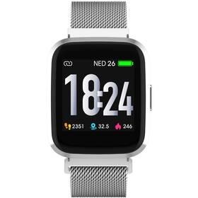 Chytré hodinky iGET FIT F30 (2x řemínek) - ZÁNOVNÍ - 12 měsíců záruka stříbrné
