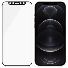Tvrzené sklo PanzerGlass Edge-to-Edge Antibacterial s Anti-Glare vrstvou na Apple iPhone 12/12 Pro (2720) černé