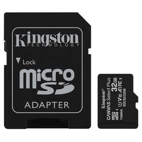 Paměťová karta Kingston Canvas Select Plus MicroSDHC 32GB UHS-I U1 (100R/10W) + adapter (SDCS2/32GB)