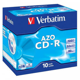 Disk Verbatim Crystal CD-R DLP 700MB/80min, 52x, jewel box, 10ks (43327)