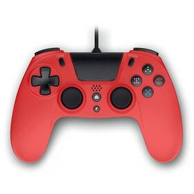 Gamepad Gioteck VX-4 s audio konektorem, pro PS4, PC (VX4PS4-43-MU) červený