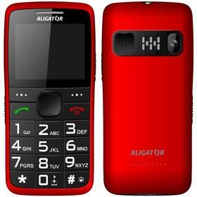Mobilní telefon Aligator A675 Senior (A675RD) červený